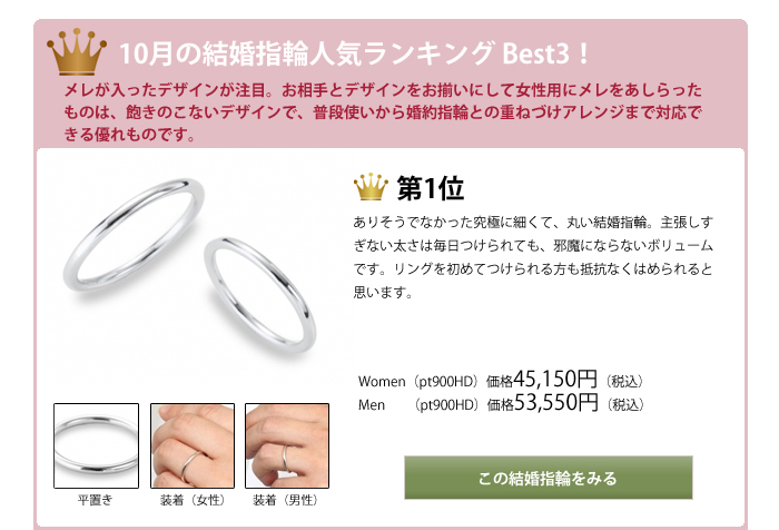 結婚指輪人気ランキング